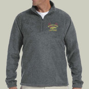 Logo - M980 Harriton Quarter-Zip Fleece Pullover