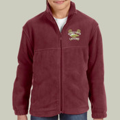 Logo - M990Y Harriton Youth 8oz. Full-Zip Fleece