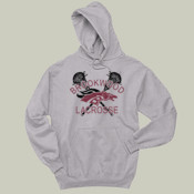 DistressedLogo - 996 Jerzees Adult 8oz. 50/50 Pullover Hooded Sweatshirt