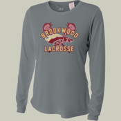 DistressedLogo - NW3002 A4 Ladies' Long Sleeve Cooling Performance Crew Shirt